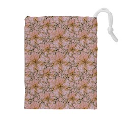 Nature Collage Print Drawstring Pouches (Extra Large)