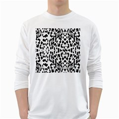 Animal print White Long Sleeve T-Shirts