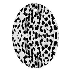 Animal print Oval Ornament (Two Sides)
