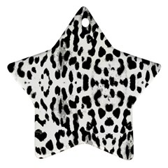 Animal print Star Ornament (Two Sides)