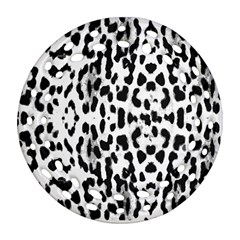 Animal print Round Filigree Ornament (Two Sides)