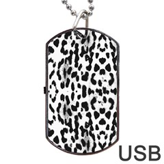 Animal print Dog Tag USB Flash (One Side)