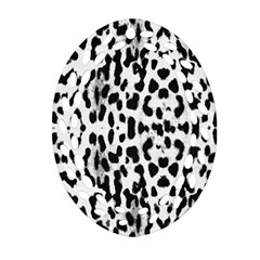 Animal print Oval Filigree Ornament (Two Sides)
