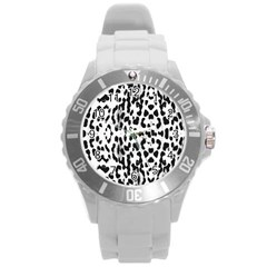 Animal print Round Plastic Sport Watch (L)