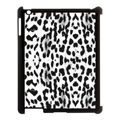 Animal print Apple iPad 3/4 Case (Black)