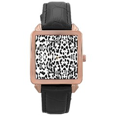 Animal print Rose Gold Leather Watch
