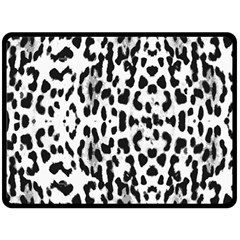 Animal Print Double Sided Fleece Blanket (large)