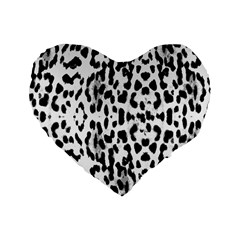Animal print Standard 16  Premium Flano Heart Shape Cushions