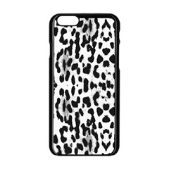 Animal print Apple iPhone 6/6S Black Enamel Case