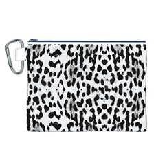 Animal print Canvas Cosmetic Bag (L)