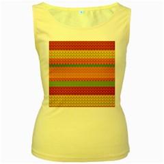 Pattern Women s Yellow Tank Top