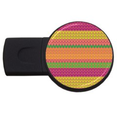 Pattern USB Flash Drive Round (1 GB)