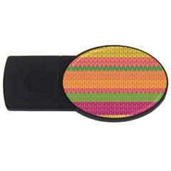 Pattern USB Flash Drive Oval (1 GB)