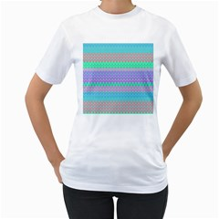 Pattern Women s T-Shirt (White) (Two Sided)