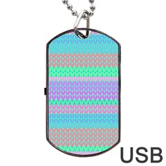 Pattern Dog Tag USB Flash (Two Sides)