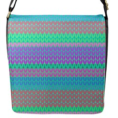 Pattern Flap Messenger Bag (S)