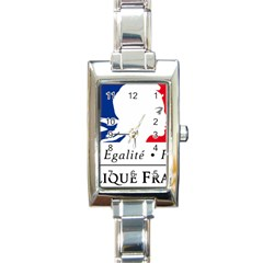 Symbol of the French Government Rectangle Italian Charm Watch