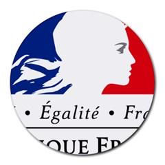 Symbol of the French Government Round Mousepads