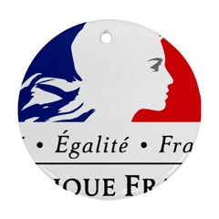 Symbol of the French Government Ornament (Round)