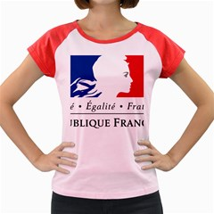 Symbol of the French Government Women s Cap Sleeve T-Shirt