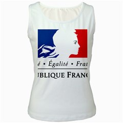 Symbol of the French Government Women s White Tank Top