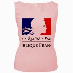 Symbol of the French Government Women s Pink Tank Top