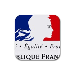Symbol of the French Government Rubber Square Coaster (4 pack)