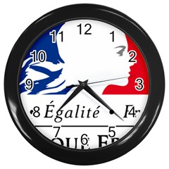 Symbol of the French Government Wall Clocks (Black)