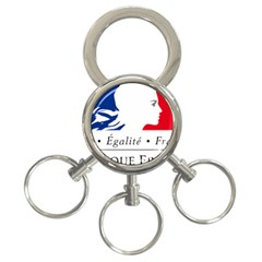 Symbol of the French Government 3-Ring Key Chains