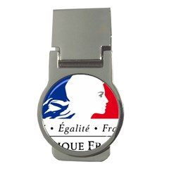 Symbol of the French Government Money Clips (Round)