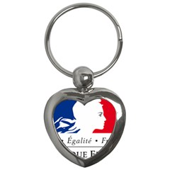 Symbol of the French Government Key Chains (Heart)