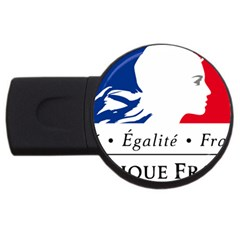 Symbol of the French Government USB Flash Drive Round (1 GB)