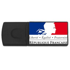 Symbol of the French Government USB Flash Drive Rectangular (1 GB)