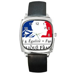 Symbol of the French Government Square Metal Watch