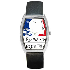 Symbol of the French Government Barrel Style Metal Watch