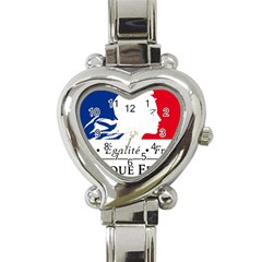 Symbol of the French Government Heart Italian Charm Watch