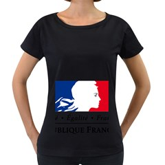 Symbol of the French Government Women s Loose-Fit T-Shirt (Black)