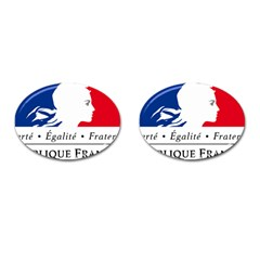 Symbol of the French Government Cufflinks (Oval)