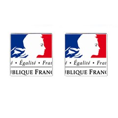 Symbol of the French Government Cufflinks (Square)