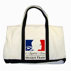 Symbol of the French Government Two Tone Tote Bag