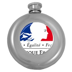 Symbol of the French Government Round Hip Flask (5 oz)