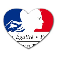 Symbol of the French Government Heart Mousepads