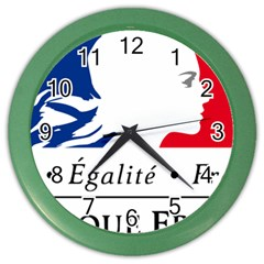 Symbol of the French Government Color Wall Clocks