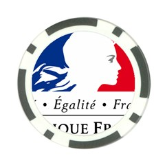 Symbol of the French Government Poker Chip Card Guard