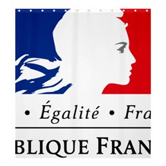 Symbol of the French Government Shower Curtain 66  x 72  (Large)