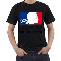 Symbol of the French Government Men s T-Shirt (Black)