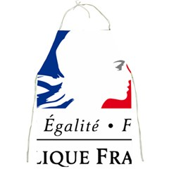 Symbol of the French Government Full Print Aprons