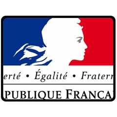 Symbol of the French Government Fleece Blanket (Large)
