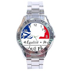 Symbol of the French Government Stainless Steel Analogue Watch