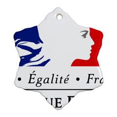 Symbol of the French Government Snowflake Ornament (Two Sides)